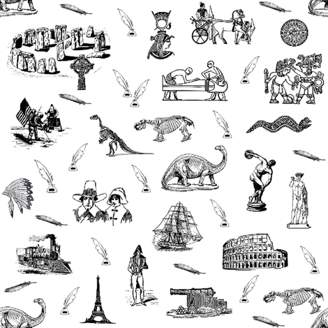 moments of history - toile  fabric by stofftoy on Spoonflower - custom fabric