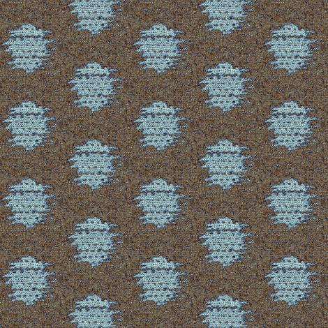 Kasuri  Weave - blue & brown fabric by materialsgirl on Spoonflower - custom fabric