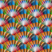 color pencil fan