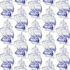 sailing vessel - toile