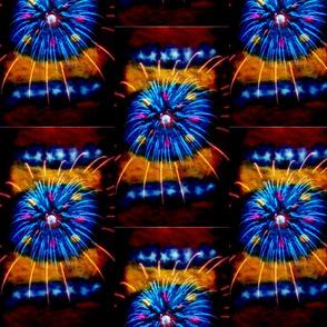 Venezuelan 7 star flag and goajiro tapestry