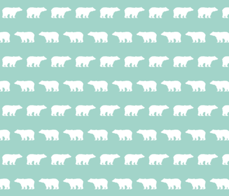 bear boy mint kids baby boy nursery, chevron, nursery, woodland, forest, grey navy mint nursery for boys outdoors camping kids bears fabric by charlottewinter on Spoonflower - custom fabric