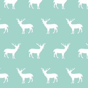 deer forest silhouette deer fawn kids mint simple nursery baby boy fabric for boys nursery outdoors camping hunting doe buck kids design for boys