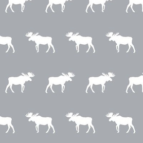 moose simple silhouette moose lodge kids nursery grey baby boy nursery fabric for kids room modern trendy kids decor