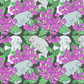Floral Manatees