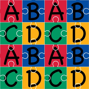 Puzzle Piece Wallpaper ABC