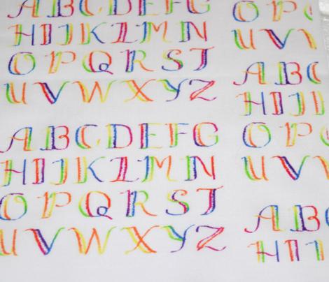Spatter Rainbow Alphabet