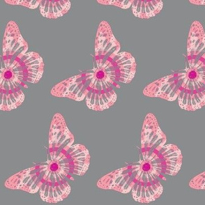 Butterfly Pink & Grey