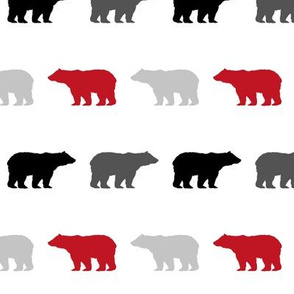 bear multi color red charcoal buffalo plaid kids bear design boys nursery bears