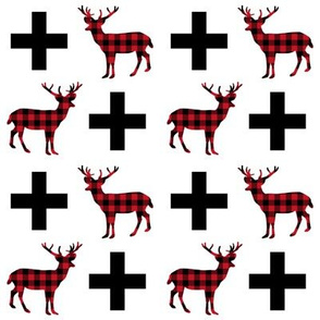 deer plus buffalo plaid deer buck hunting buck