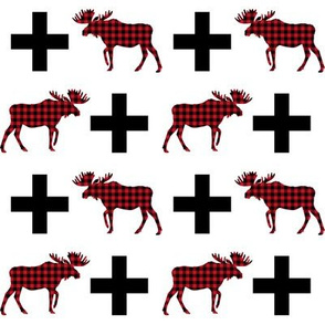 buffalo plaid moose red and black camping lodge outdoors
