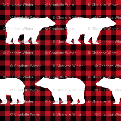 buffalo plaid bears kids nursery bear nursery red and black hunting camping outdoors
