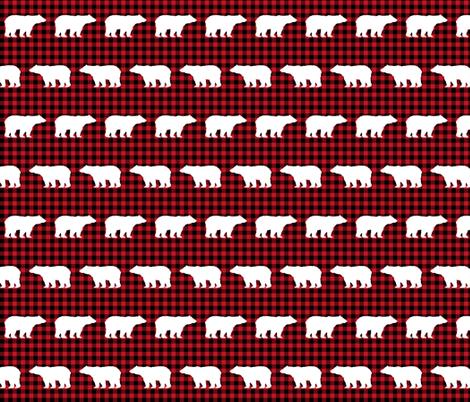 buffalo plaid bears kids nursery bear nursery red and black hunting camping outdoors fabric by charlottewinter on Spoonflower - custom fabric