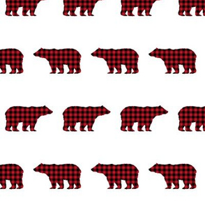 buffalo plaid bears kids nursery hunting camping kids cute nursery