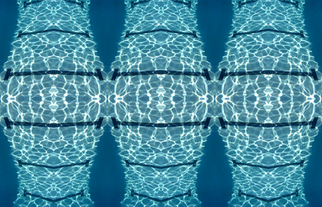 Underwater Pool Lines & Heart fabric by zwater on Spoonflower - custom fabric
