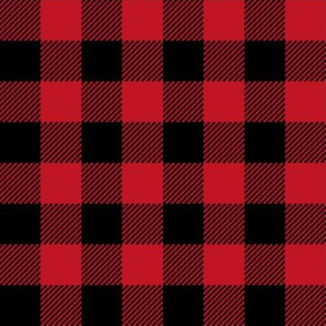 "1"" buffalo plaid black and red kids cute nursery hunting outdoors camping red and black plaid checks"