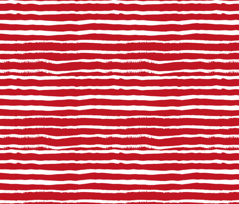 painted stripes red and white coordinate buffalo plaid kids nursery baby fabric by charlottewinter on Spoonflower - custom fabric