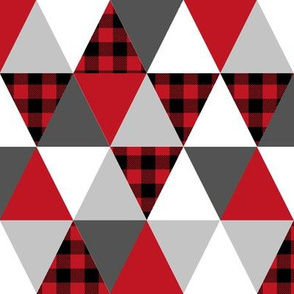 triangle buffalo plaid cheater quilt cute nursery kids boy