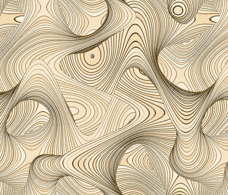 Timewarp - carved fabric by ormolu on Spoonflower - custom fabric
