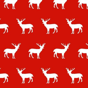 deer silhouette red christmas xmas holiday christmas deer woodland
