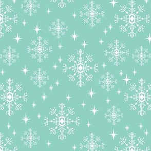 snowflake mint cute winter christmas design for christmas xmas holiday