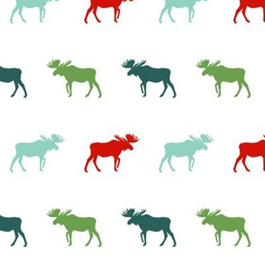 moose green and red christmas moose silhouette simple baby nursery christmas