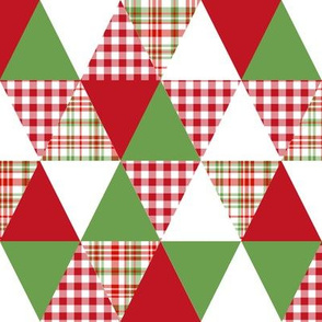 triangle quilt cheater xmas holiday christmas design fabric