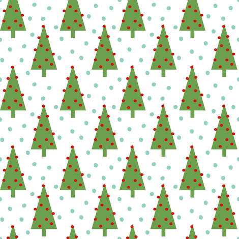 christmas tree forest woodland christmas holiday design simple nordic christmas tree fabric by charlottewinter on Spoonflower - custom fabric