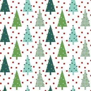 plaid green christmas trees cute xmas holiday christmas