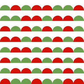 christmas scallop red and green christmas solid coordinate xmas holiday red and green