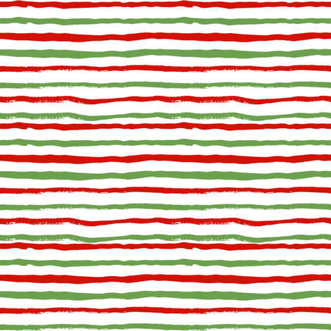 christmas stripes red and green hand painted stripes holiday xmas christmas festive stripe coordinate fabric by charlottewinter on Spoonflower - custom fabric