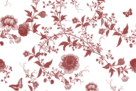 The Dowager's Chinese Room in cranberry_final fabric by lilyoake on Spoonflower - custom fabric