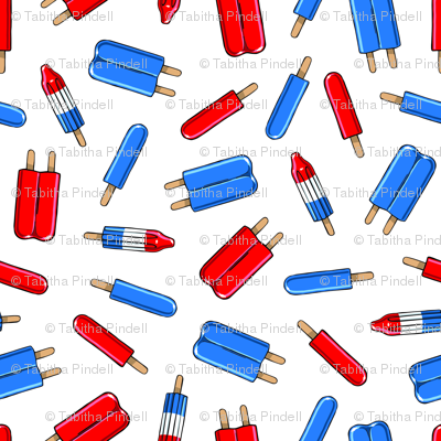 Red, White, & Blue Popsicles
