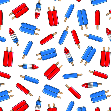 Red, White, & Blue Popsicles fabric by tabpin on Spoonflower - custom fabric