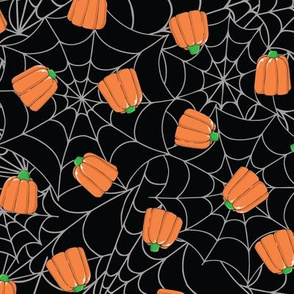 Candy Pumpkins & Spider Webs