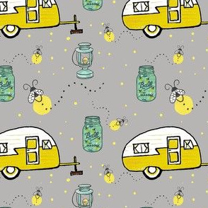 camper firefly mason jar lanterns