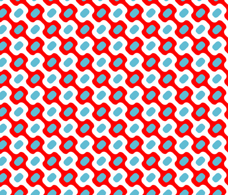 Oh Gee! White/Red/Sky fabric by thirdhalfstudios on Spoonflower - custom fabric