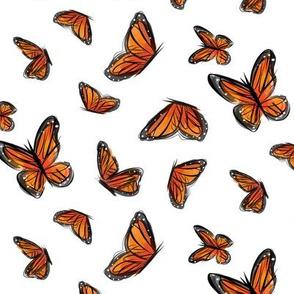 Watercolor Monarchs
