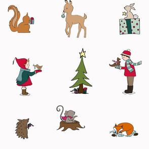 ChristmasprintWHITEMINTandPINKFOXwords_LARGE
