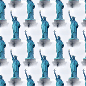 statue of liberty in blue