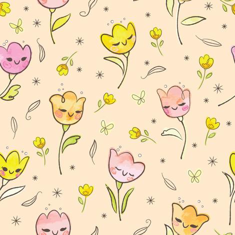 Tulip Dance fabric by sweetsurprises on Spoonflower - custom fabric