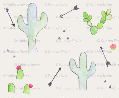 boho cactus and arrows