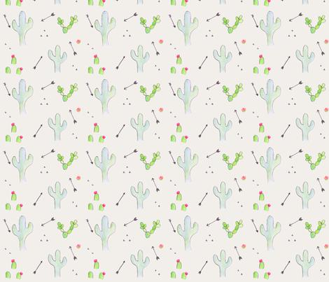 boho cactus and arrows fabric by chavamade on Spoonflower - custom fabric