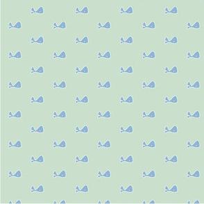 mint mini whale pattern