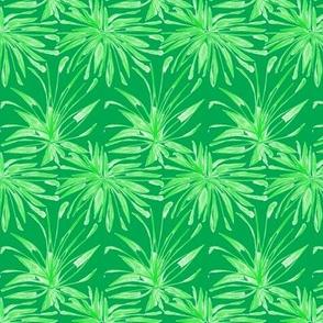 Fantasy Fern Fronds on Emerald Green