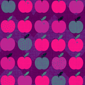 Fall Pink & Purple Apples : Fauvist Apples for my Art Teacher