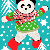 Fair Isle Pandas Christmas , Holiday