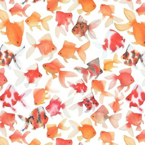 Small Scale Watercolor Goldfish