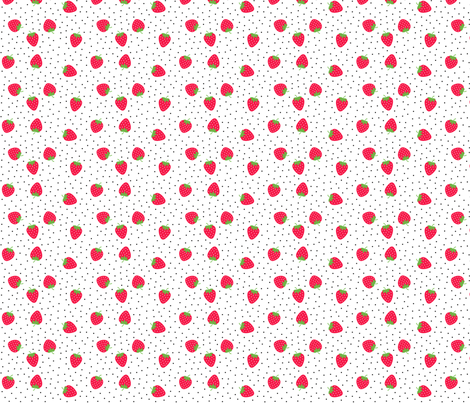 strawberries :: fruity fun fabric by misstiina on Spoonflower - custom fabric