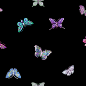 Winter Gemstone Butterflies